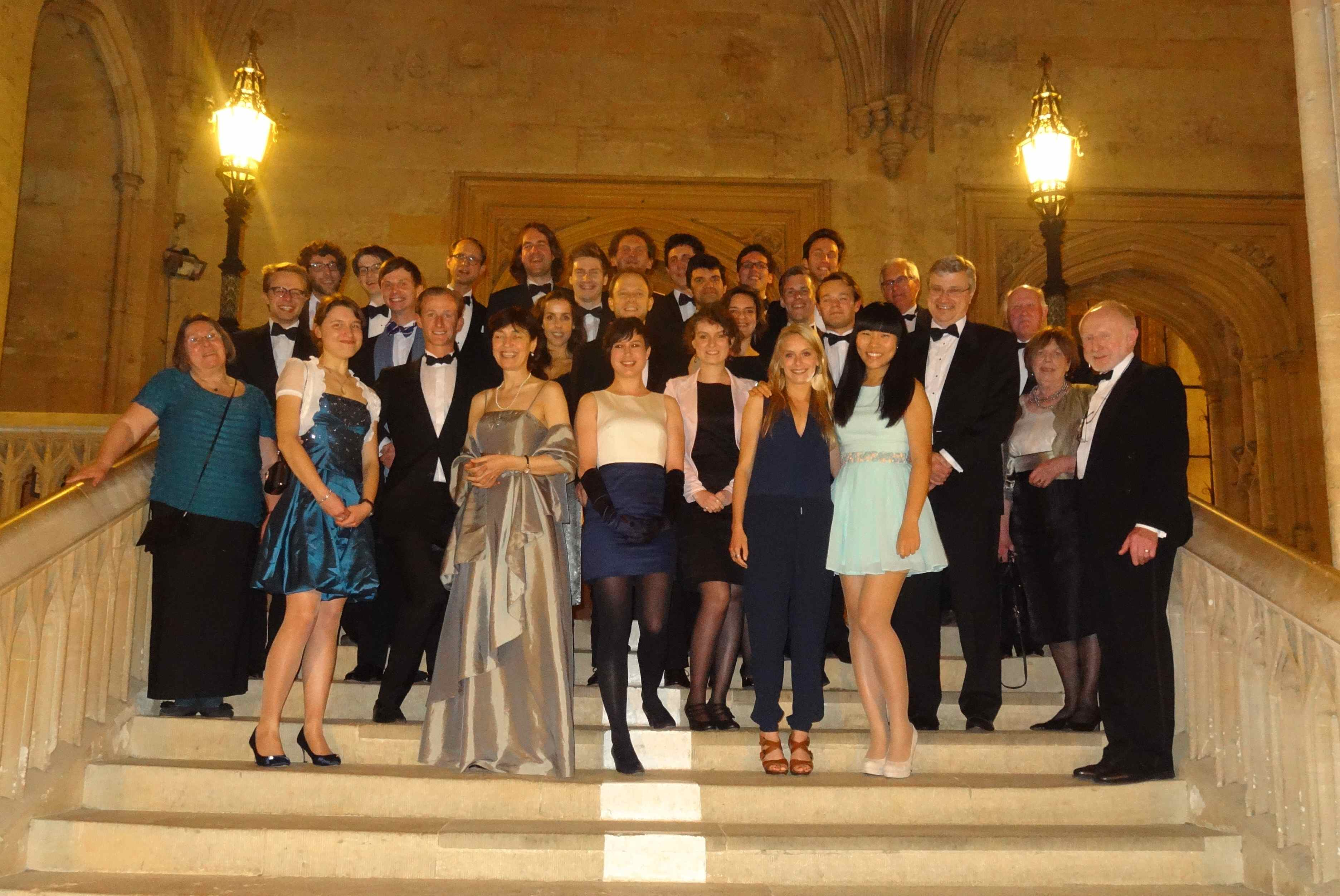 OUSL Members together with Luxembourgish and Belgian Oxford Students at the May 1 Dinner